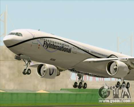 Airbus A330-300 Fly International for GTA San Andreas wheels