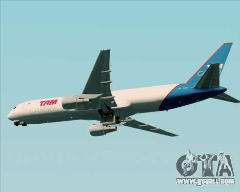 Boeing 767-300ER F TAM Cargo for GTA San Andreas back view