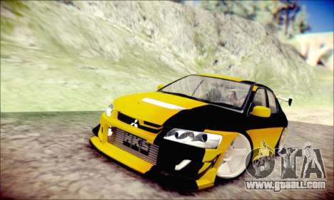 Mitsubishi Lancer Turkis Drift for GTA San Andreas left view