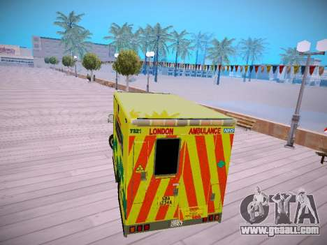 Mercedes-Benz Sprinter London Ambulance for GTA San Andreas right view
