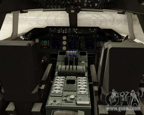 Boeing 747-8 Cargo Cargolux for GTA San Andreas interior