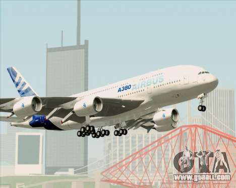 Airbus A380-861 for GTA San Andreas wheels