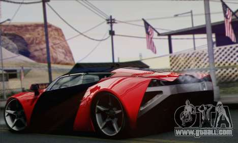 Marussia B2 for GTA San Andreas left view