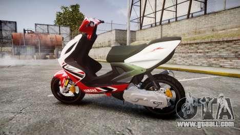 Yamaha Aerox for GTA 4 left view