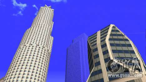 HD texture four skyscrapers in Los Santos for GTA San Andreas