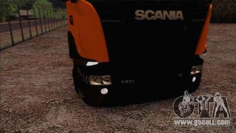 Scania R500 Streamline for GTA San Andreas back view