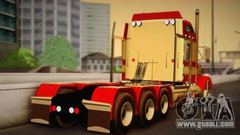 Kenworth T800 Road Train 8X6 for GTA San Andreas left view