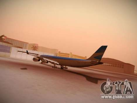 Airbus A340-300 Aerolineas Argentinas for GTA San Andreas back view