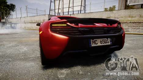 McLaren 650S Spider 2014 [EPM] Michelin v2 for GTA 4 back left view