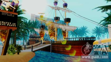 New pirate ship in Las Venturas for GTA San Andreas