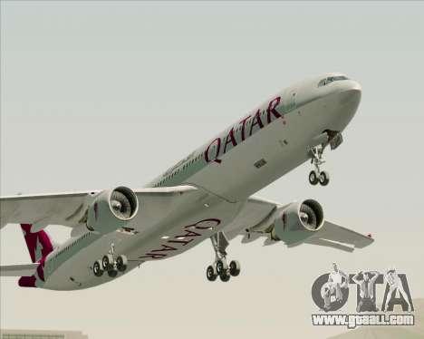 Airbus A330-300 Qatar Airways for GTA San Andreas side view