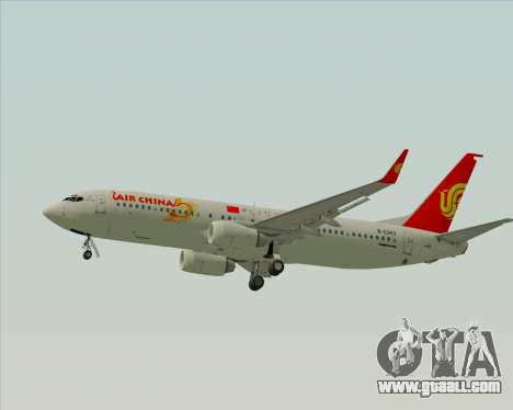 Boeing 737-89L Air China for GTA San Andreas back left view