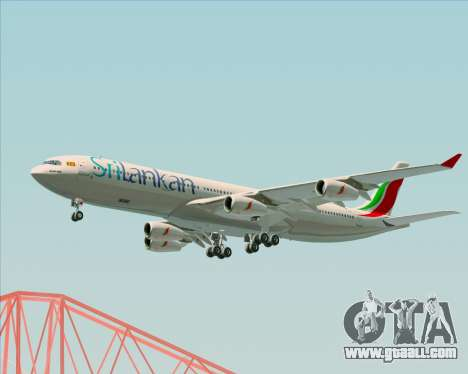 Airbus A340-313 SriLankan Airlines for GTA San Andreas side view