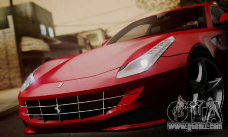 Ferrari FF 2012 for GTA San Andreas back left view
