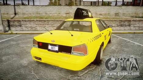 GTA V Vapid Taxi LCC for GTA 4 back left view