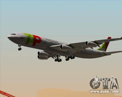 Airbus A340-312 TAP Portugal for GTA San Andreas bottom view