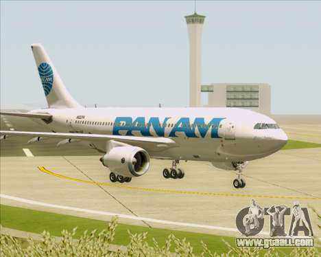 Airbus A310-324 Pan American World Airways for GTA San Andreas upper view