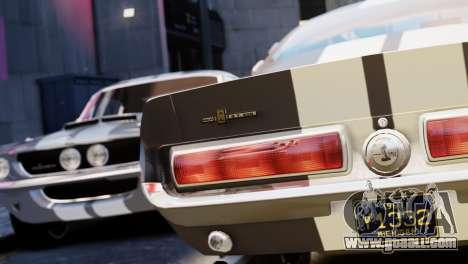 Shelby Cobra GT500 1967 for GTA 4 inner view