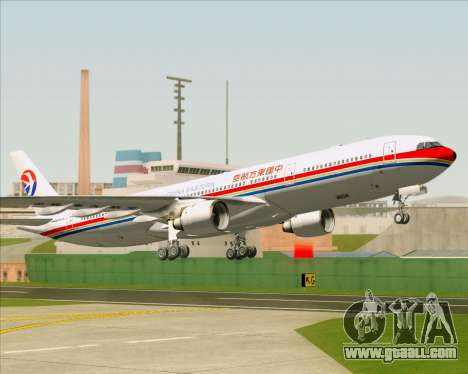 Airbus A330-300 China Eastern Airlines for GTA San Andreas bottom view