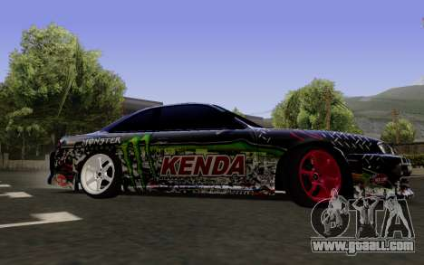 Nissan Silvia S14 Monster Energy for GTA San Andreas back left view