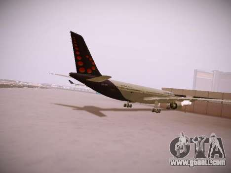 Airbus A330-300 Brussels Airlines for GTA San Andreas right view