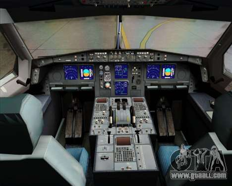 Airbus A340-313 Emirates for GTA San Andreas interior