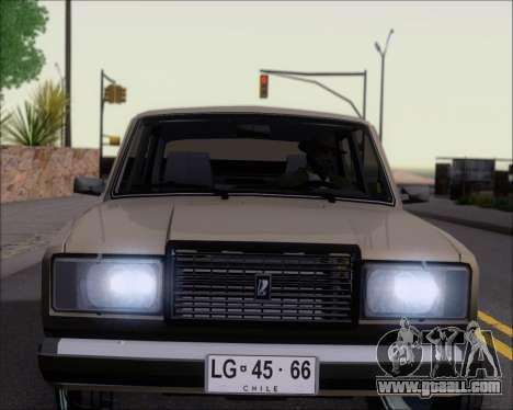 LADA 2107 for GTA San Andreas wheels