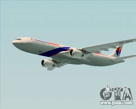 Airbus A330-323 Malaysia Airlines for GTA San Andreas bottom view