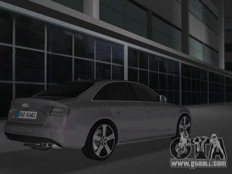 Audi S4 (B8) 2010 - Metallischen for GTA Vice City back left view