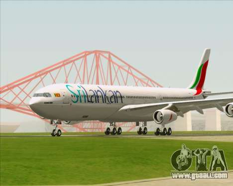 Airbus A340-313 SriLankan Airlines for GTA San Andreas left view