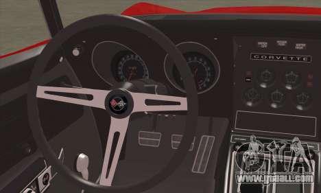 Chevrolet Corvette ZR1 1970 for GTA San Andreas back left view