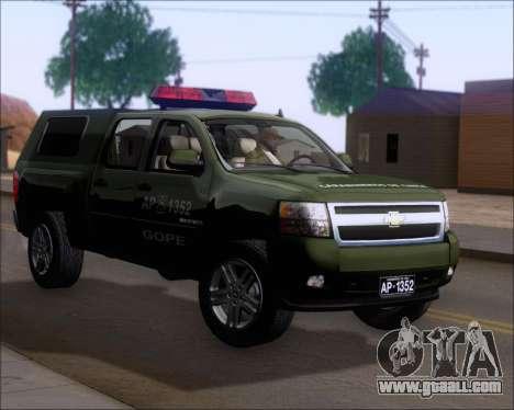 Chevrolet Silverado Gope for GTA San Andreas