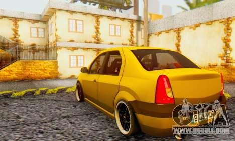 Dacia Logan MOR for GTA San Andreas back view