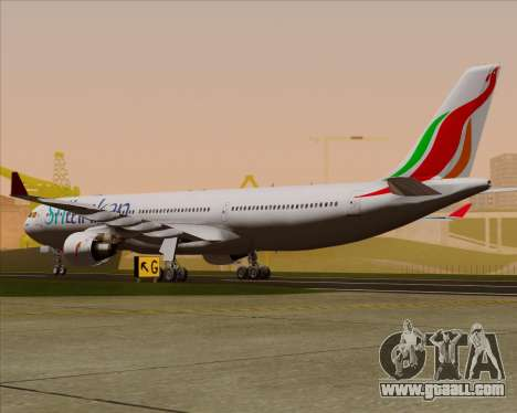 Airbus A330-300 SriLankan Airlines for GTA San Andreas right view