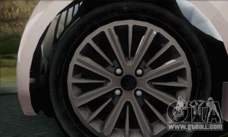 Aston Martin Cygnet for GTA San Andreas back left view