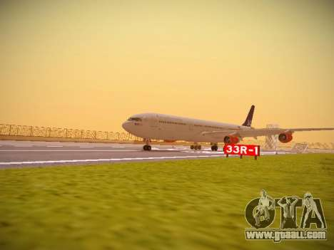 Airbus A340-300 Scandinavian Airlines for GTA San Andreas left view