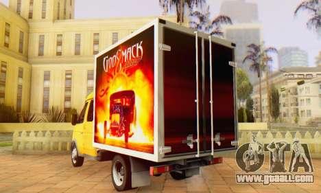 33023 GAZelle Godsmack - has 1000hp (2014) for GTA San Andreas back left view