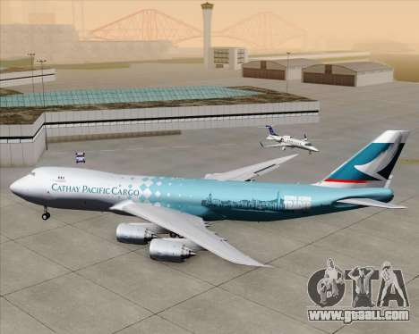 Boeing 747-8 Cargo Cathay Pacific Cargo for GTA San Andreas upper view