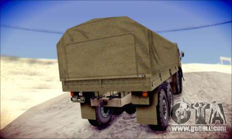 The KamAZ-6350 (APT) for GTA San Andreas back view