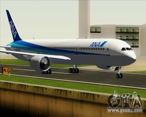 Boeing 787-9 All Nippon Airways for GTA San Andreas back left view