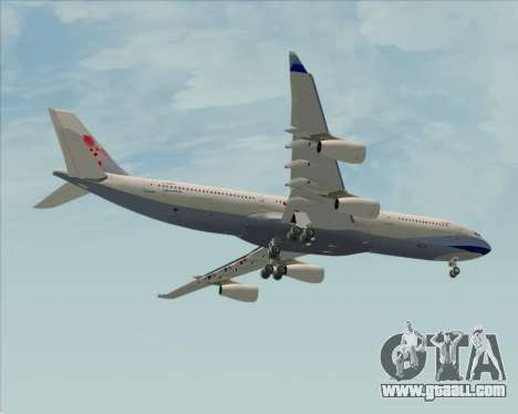 Airbus A340-313 China Airlines for GTA San Andreas inner view