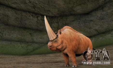 Elasmotherium (Extinct Mammal) for GTA San Andreas third screenshot