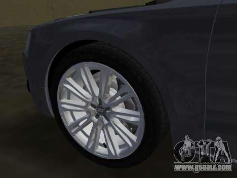 Audi A8 2010 W12 Rim1 for GTA Vice City interior