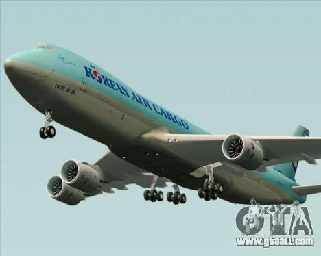 Boeing 747-8 Cargo Korean Air Cargo for GTA San Andreas inner view