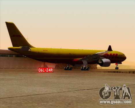 Airbus A330-300P2F DHL for GTA San Andreas bottom view