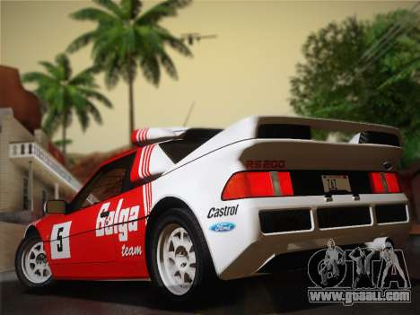 Ford RS200 Evolution 1985 for GTA San Andreas right view