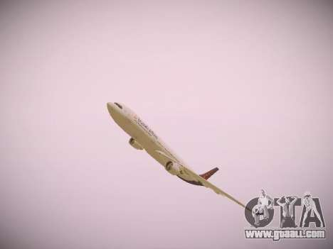 Airbus A330-300 Brussels Airlines for GTA San Andreas interior