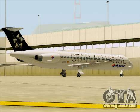 McDonnell Douglas MD-82 Spanair for GTA San Andreas bottom view