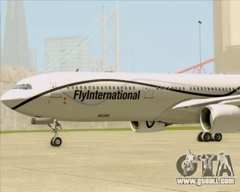 Airbus A330-300 Fly International for GTA San Andreas upper view
