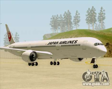 Airbus A350-941 Japan Airlines for GTA San Andreas left view